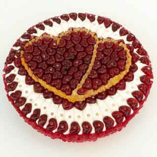Fruchtgummi Torte Doppeltes Herz