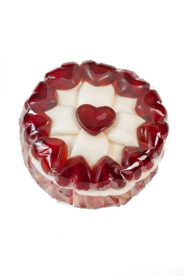 Fruchtgummi Torte Herzen