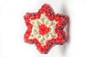 Weihnachtsstern aus Fruchtgummi