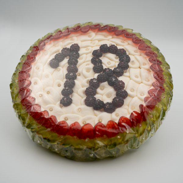 Fruchtgummi Torte rund mit Wunschzahl